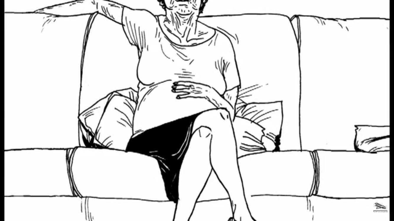 idosa sentada